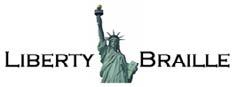 Liberty Braille logo